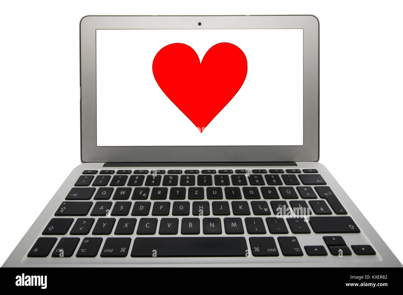 Symbol picture partnership agency,dating agency,heart website on notebook - Stock Image