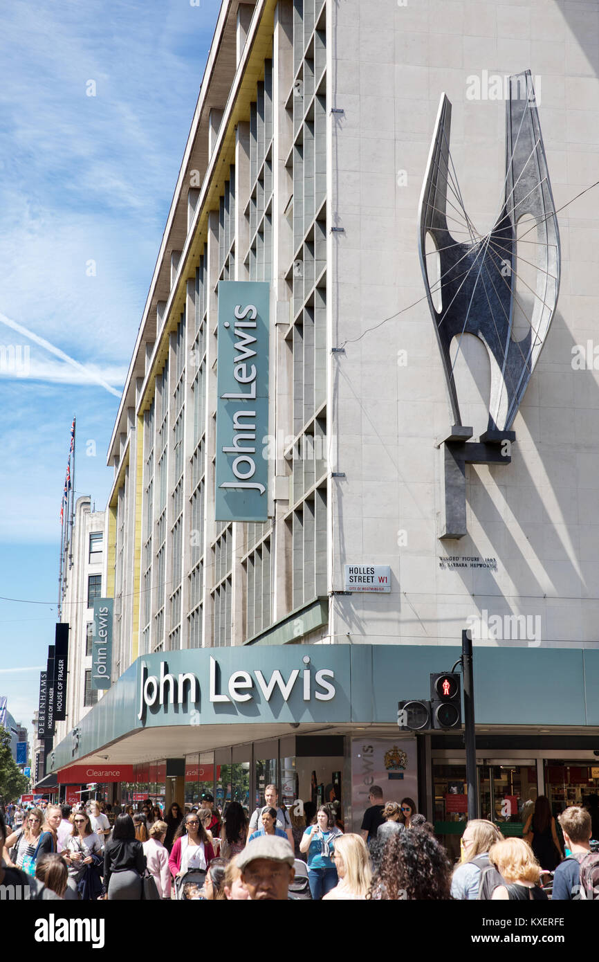 John Lewis flagship store in Oxford Street, London. - Stock Image