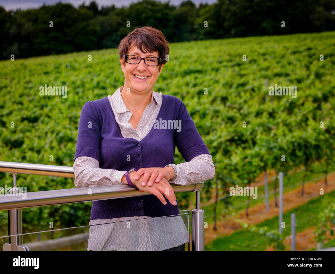 Sam Linter head winemaker and MD at Bolney Wine Estate near Haywards Heath, West Sussex. - Stock Image