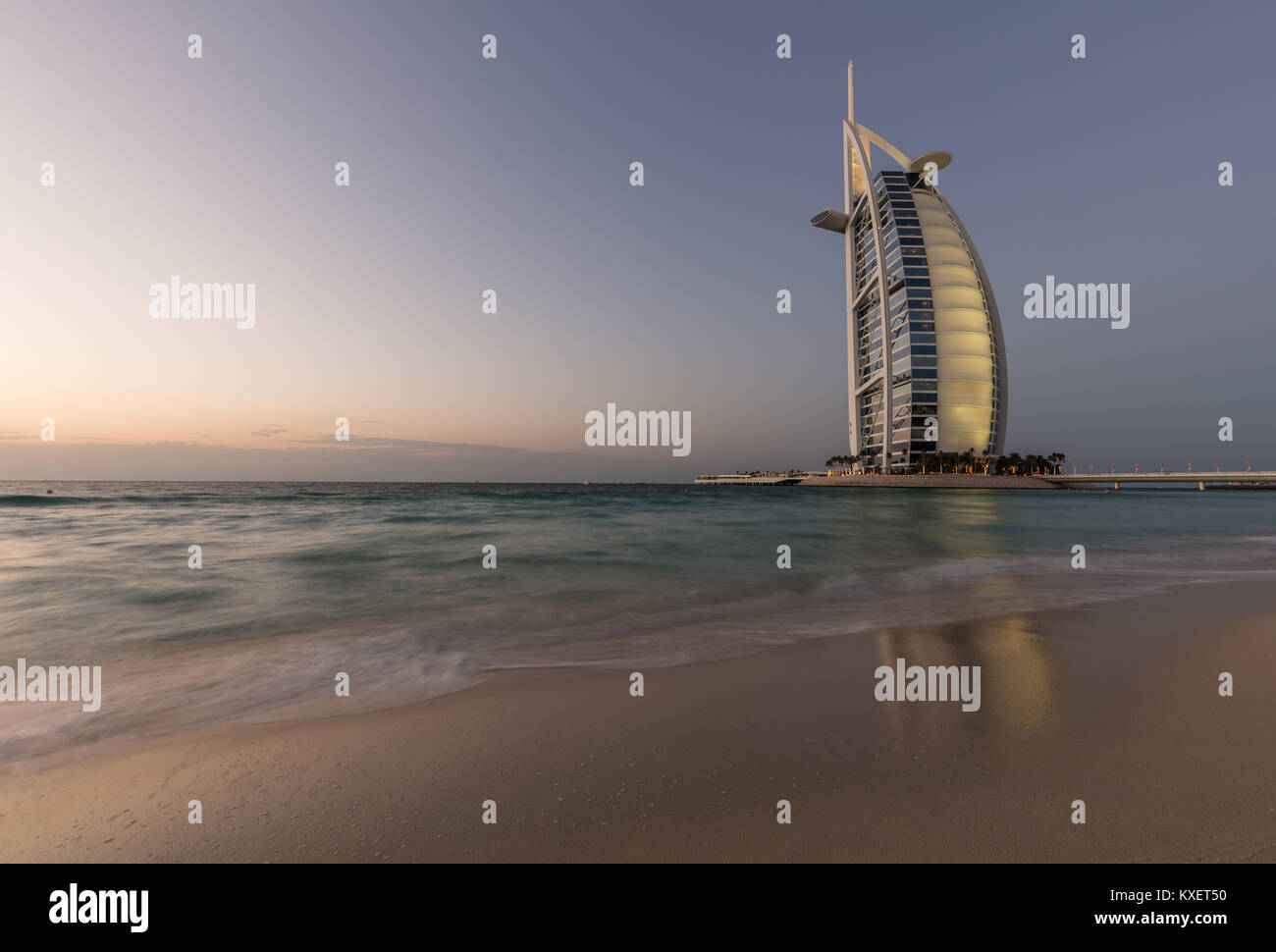 The seven star Burj Al Arab Hotel - Stock Image
