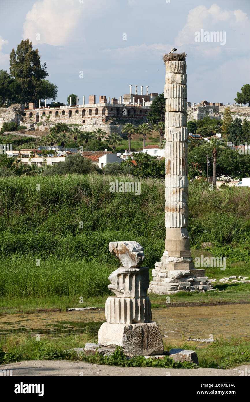 The Temple of Artemis, one of the Seven Wonders of the Ancient World - Stock Image