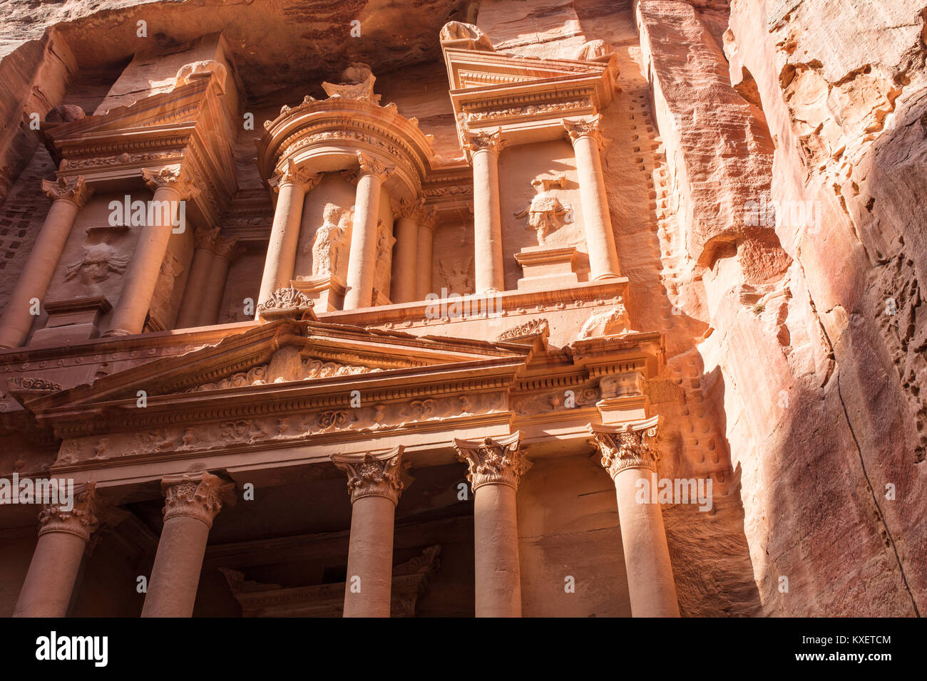 The lost city of Petra Stock Photo