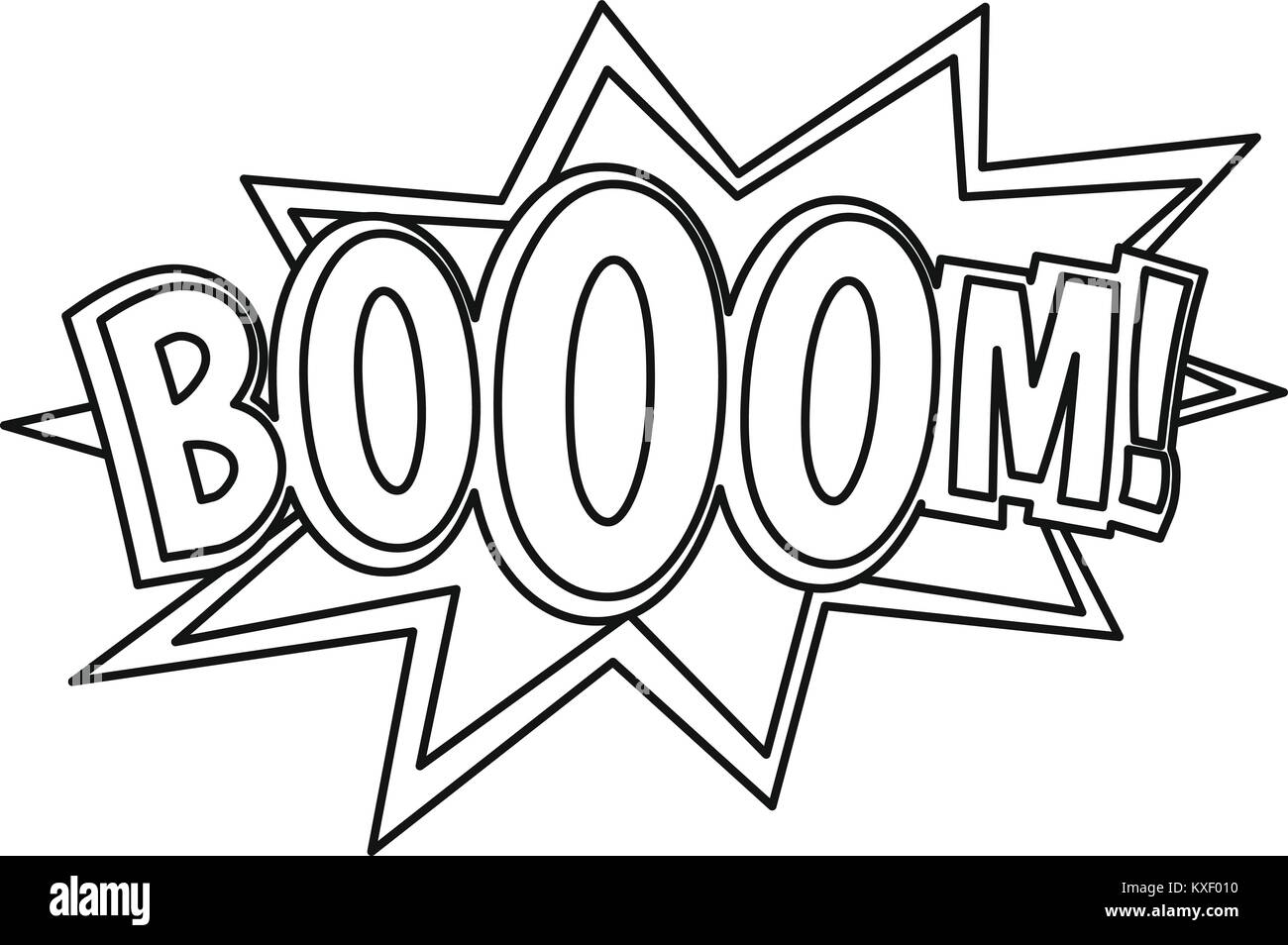 Boom Comic Book Explosion Icon Outline Style