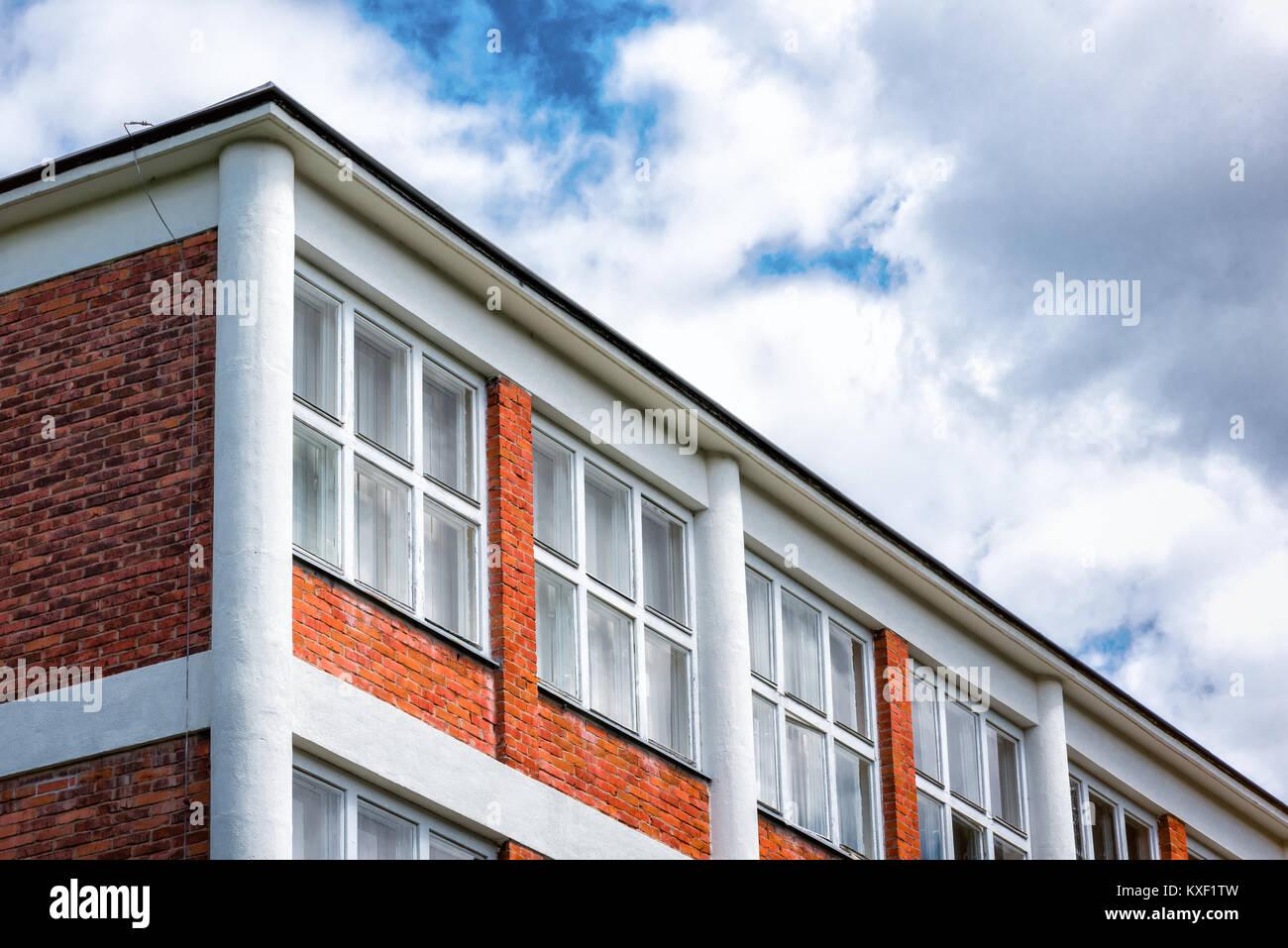 Architectural Design of Administrative Buildings in Zlin, Czech Republic - Stock Image