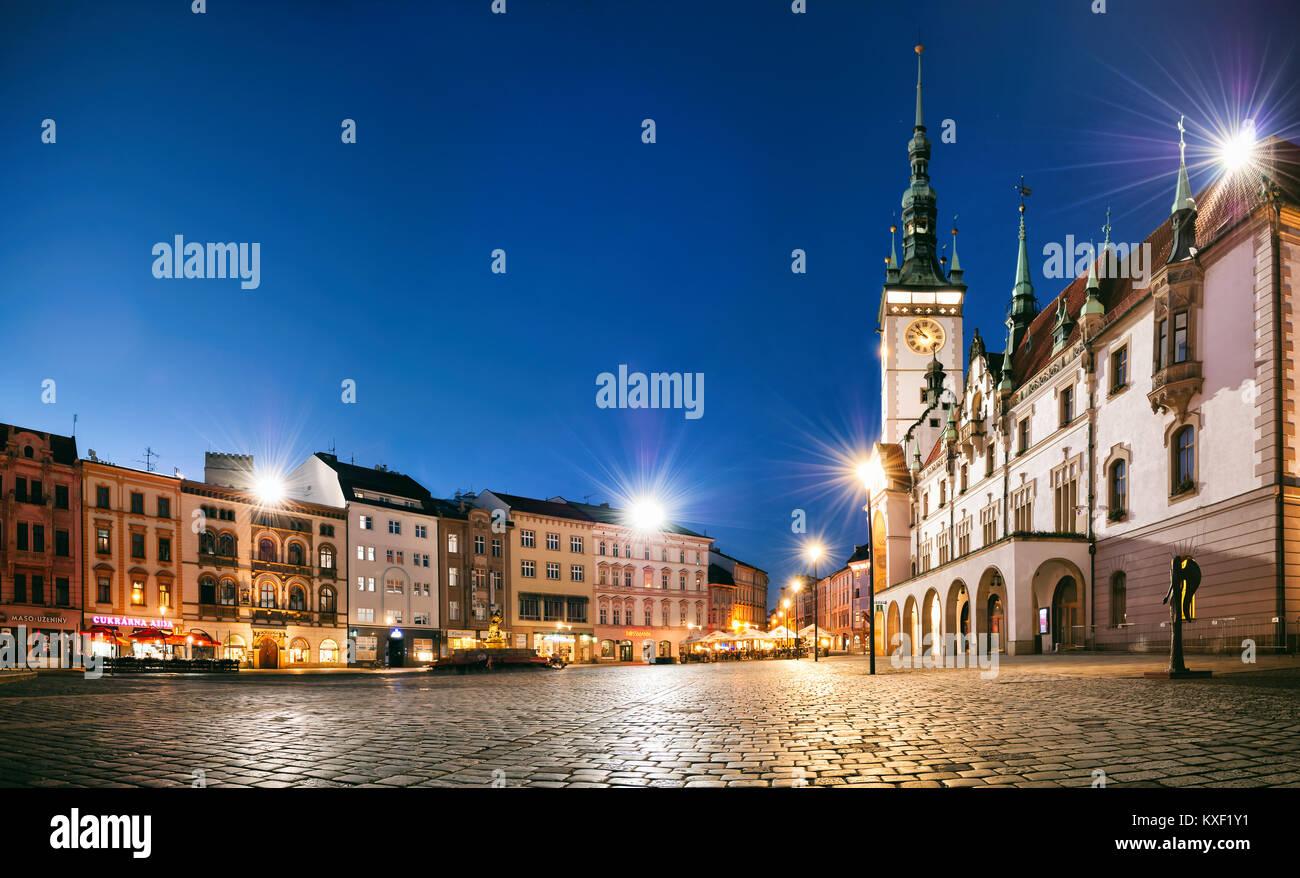 The Upper Square in Olomouc - Stock Image