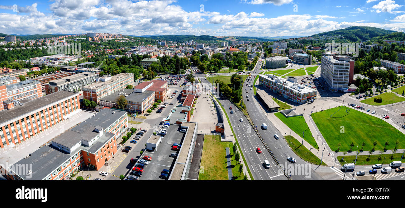 Zlin Cityscape from Administrative Building No. 21 - Stock Image