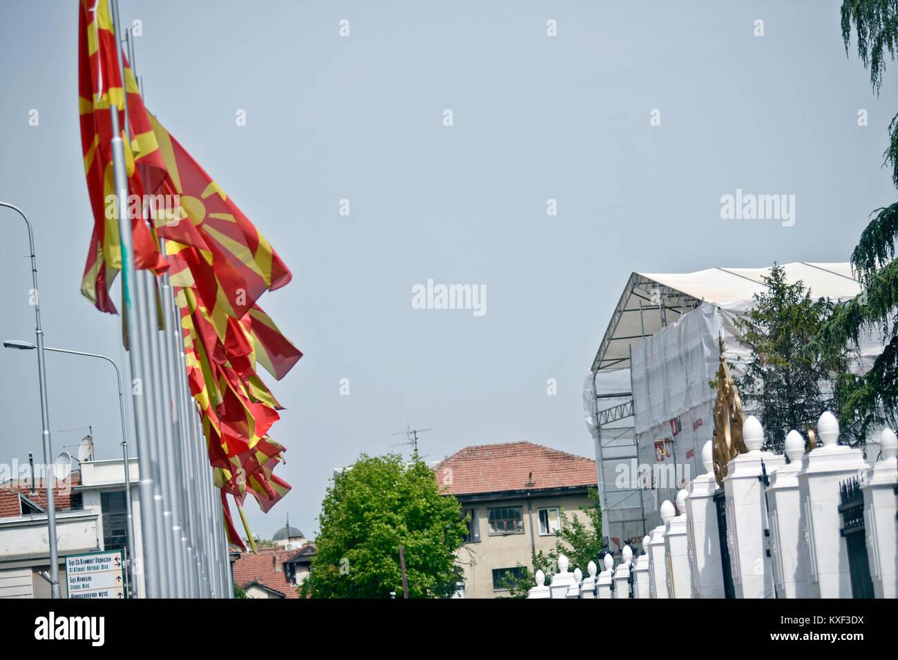 House of Government of Macedonia (Vlada Na Republika Makedonija), Skopje - Stock Image