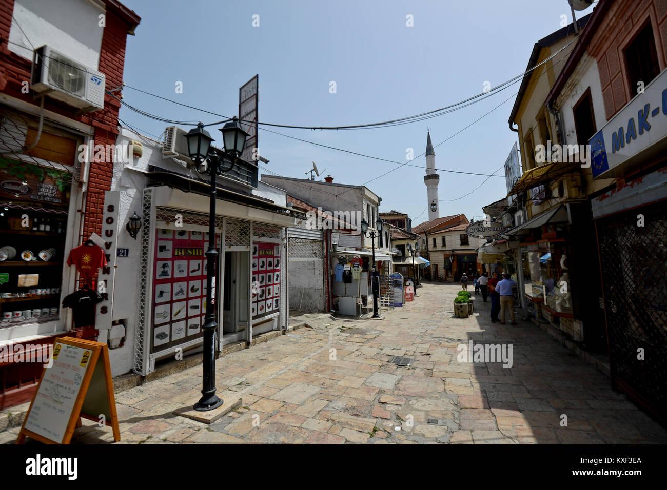 Skopje Old Bazaar, Macedonia - Stock Image