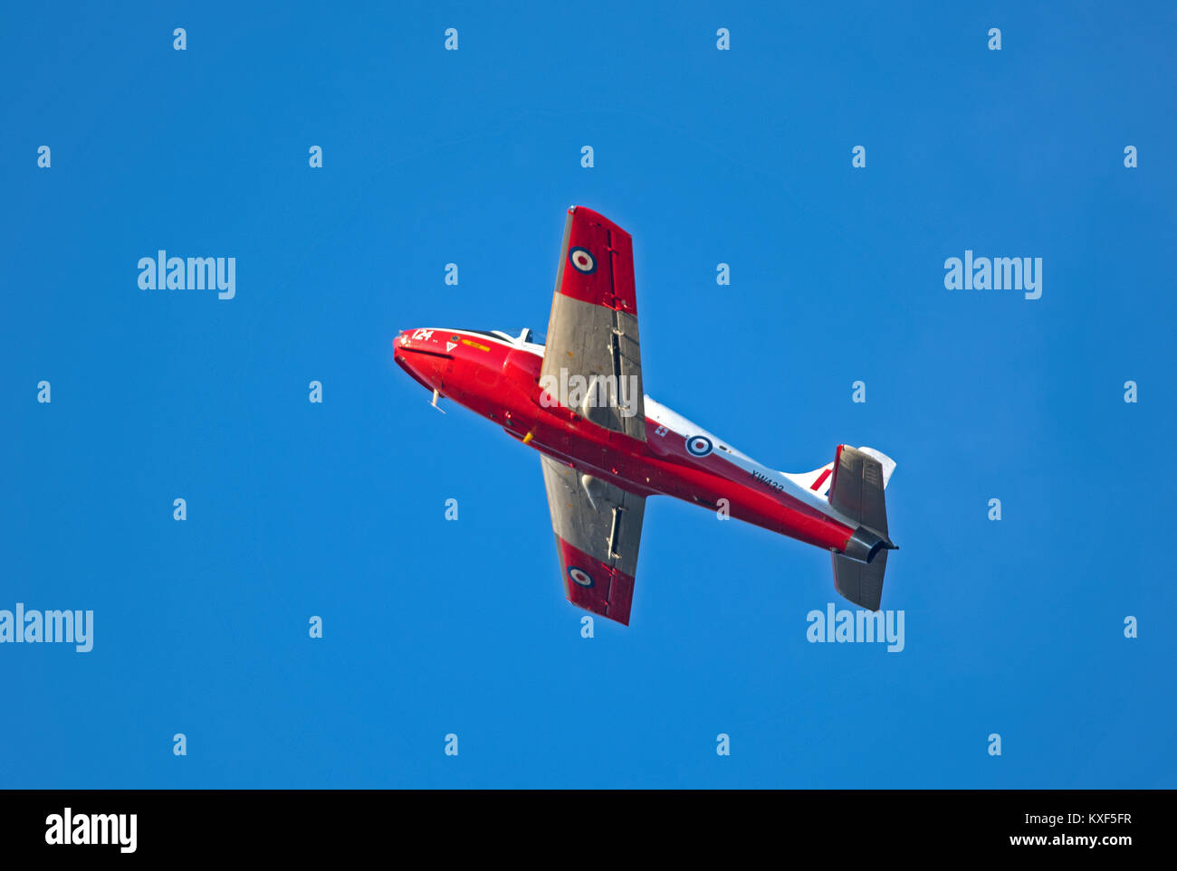 BAC Jet Provost T5A based at Inverness airport can be hired with pilot for trips unto an hour. - Stock Image