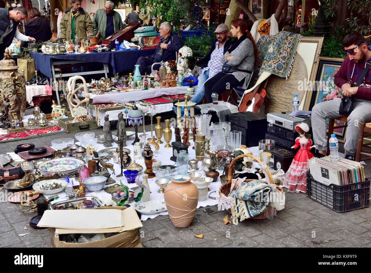 Flea market with bric-a-brac and many other stalls by Monstiraki ...