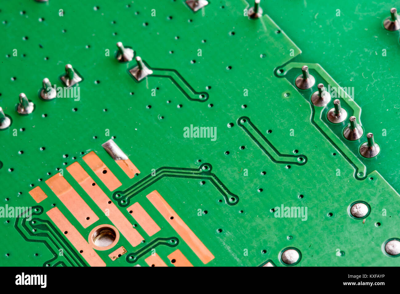 Transistors Circuit Board Elements Electronic Stock Photos With Pcb Printed In Macro Close Up Circuitry And Electric Hardware