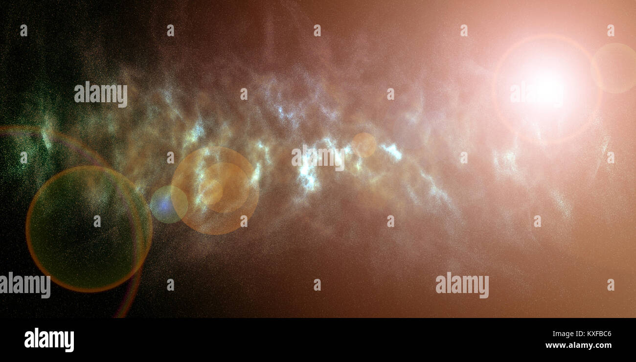 Galaxy stars – Universe nebula background - Stock Image