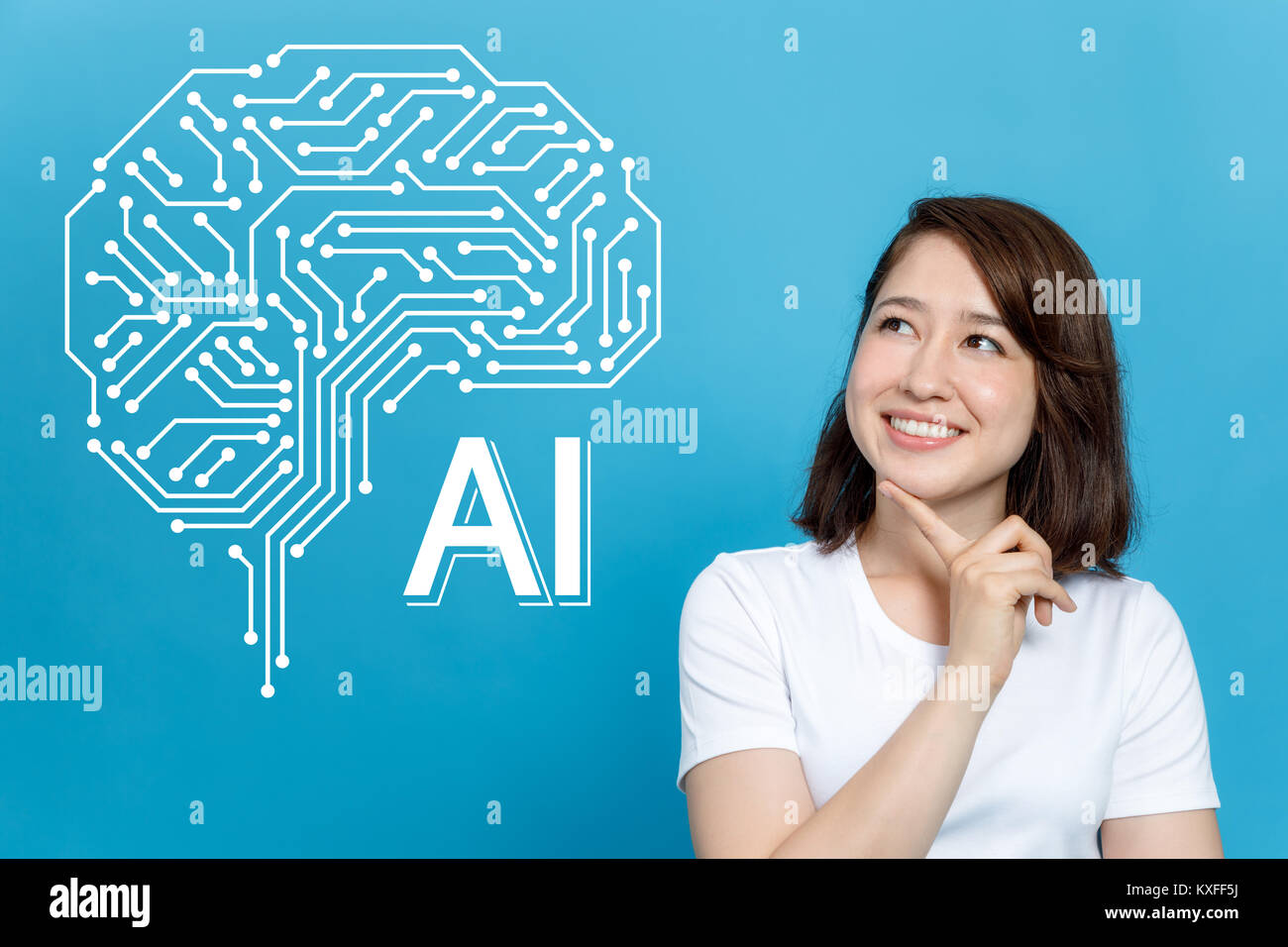 AI (artificial intelligence) concept. - Stock Image