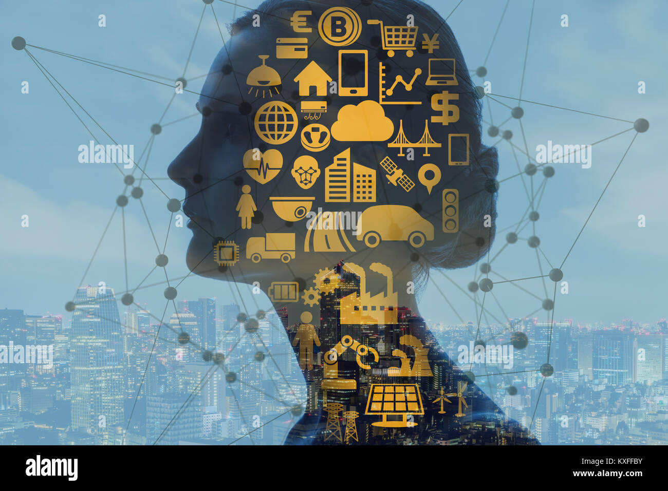 AI(Artificial Intelligence) concept. - Stock Image