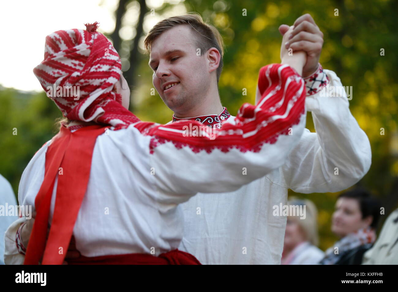 Belarus, Gomel, May 20, 2017.Belarus, Gomel, May 20, 2017. Holiday in the branch of the Vetkovsky Museum.National - Stock Image