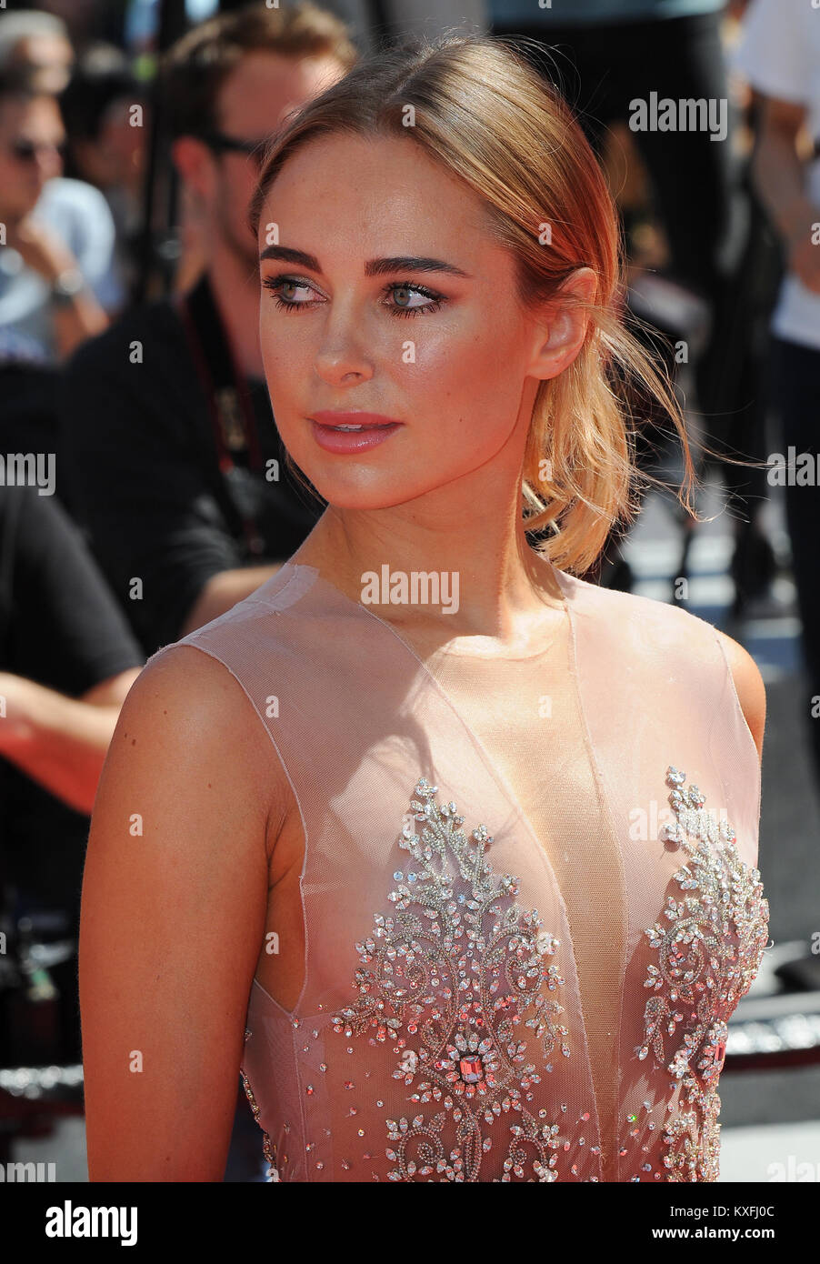 May 21st, 2017 - Cannes  Kimberley Garner attends the 70th Cannes Film Festival 2017. - Stock Image