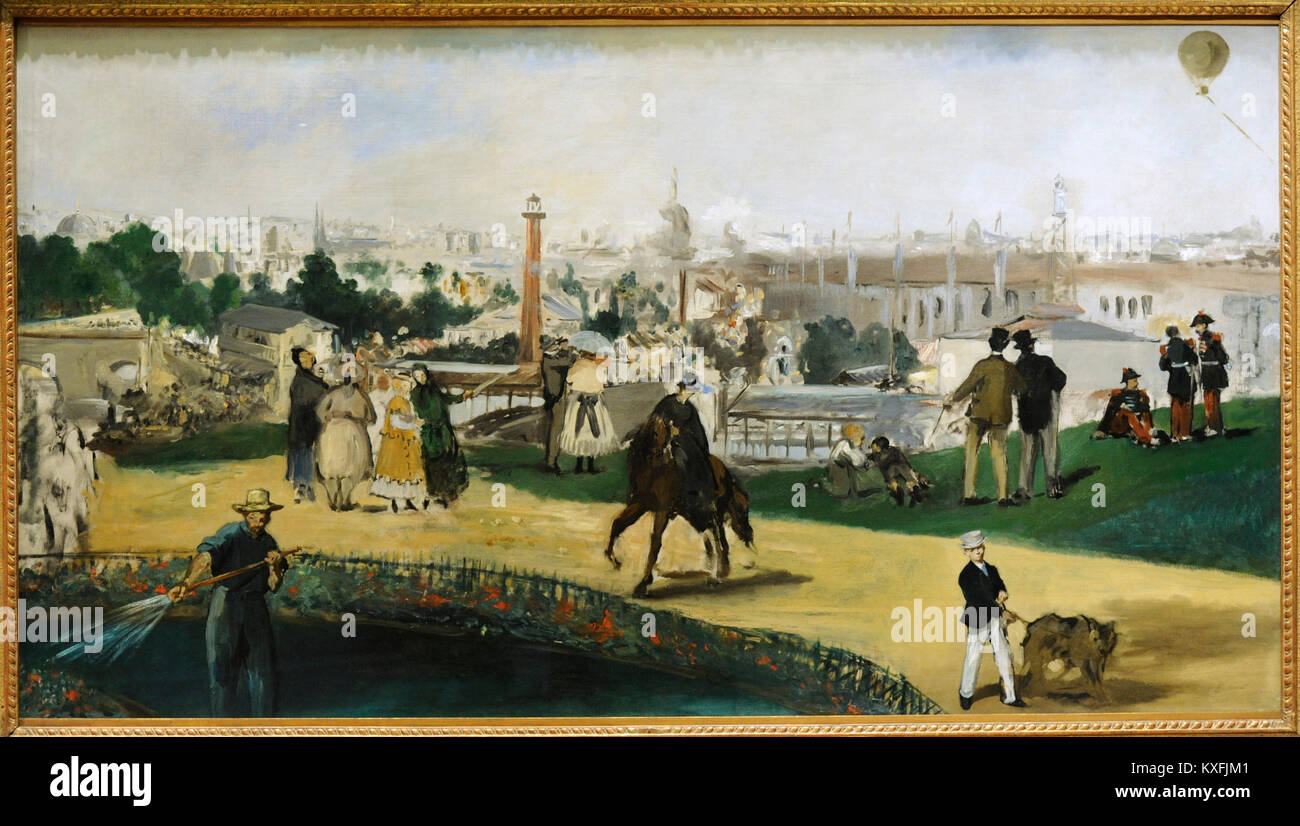 Edouard Manet (1832-1883). French painter. View of the 1867 Exposition Universelle, 1867. National Gallery. Oslo. - Stock Image