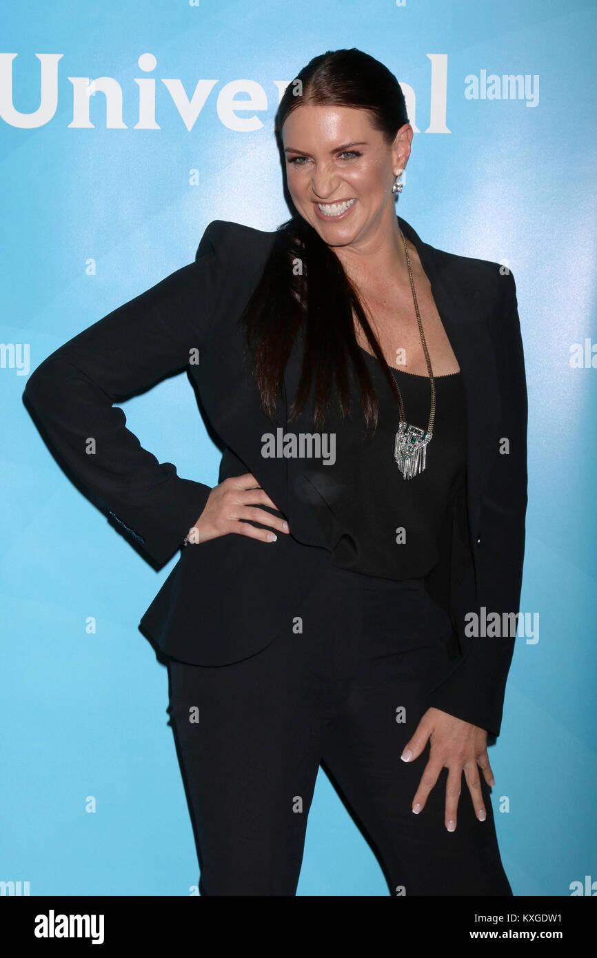 Pasadena, Ca. 09th Jan, 2018. Stephanie McMahon at the 2018 NBCUniversal Winter Press Tour at The Langham Huntington, - Stock Image