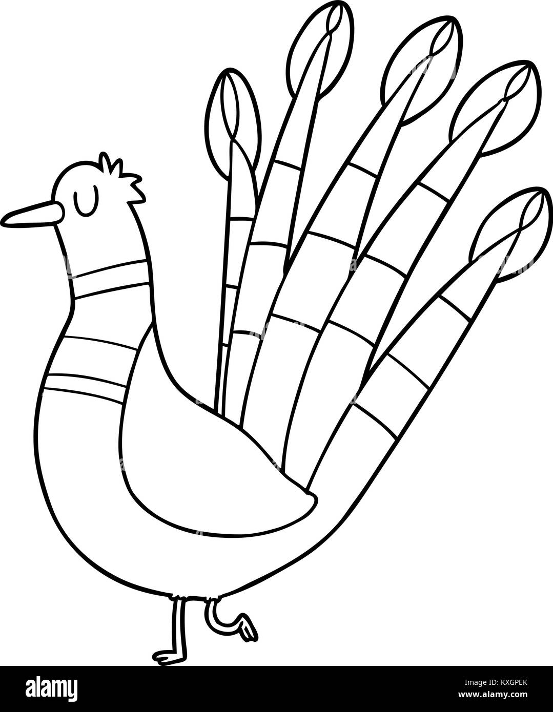 Get Peacock Cartoon Black And White