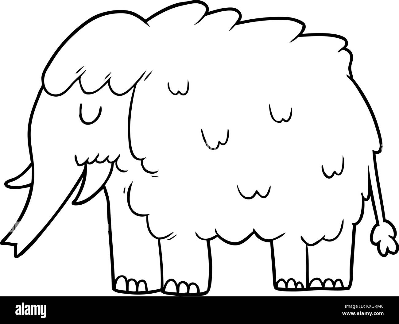 prehistoric mammoth black and white stock photos images alamy Mammoth in Ice cartoon mammoth stock image