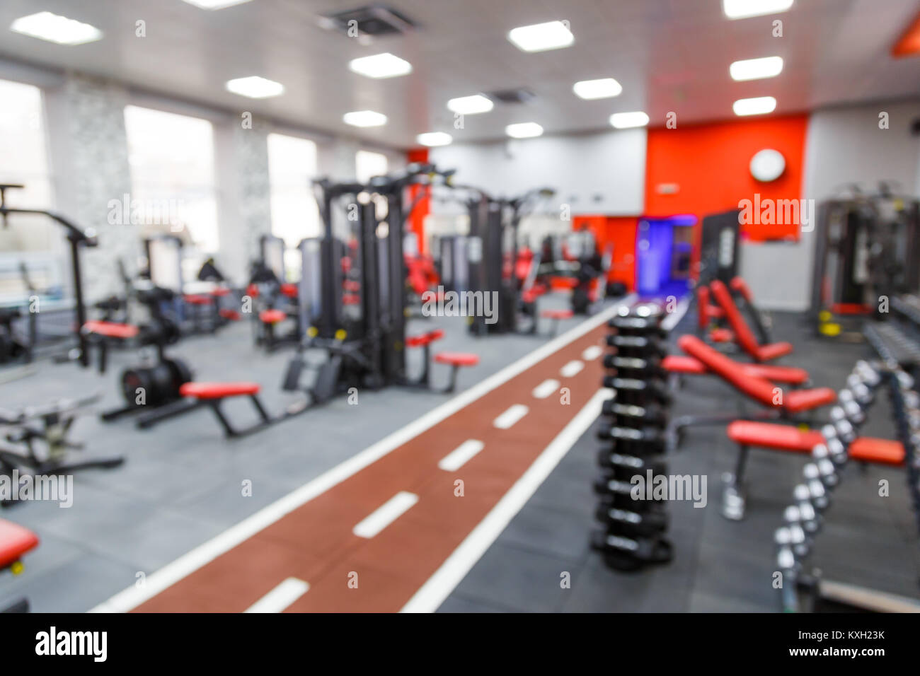 Abstract blur fitness gym background stock photo alamy