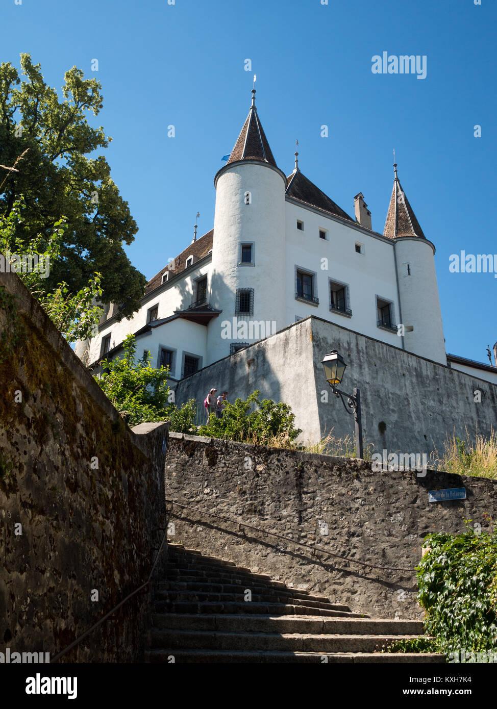 Chateau de Nyon - Stock Image