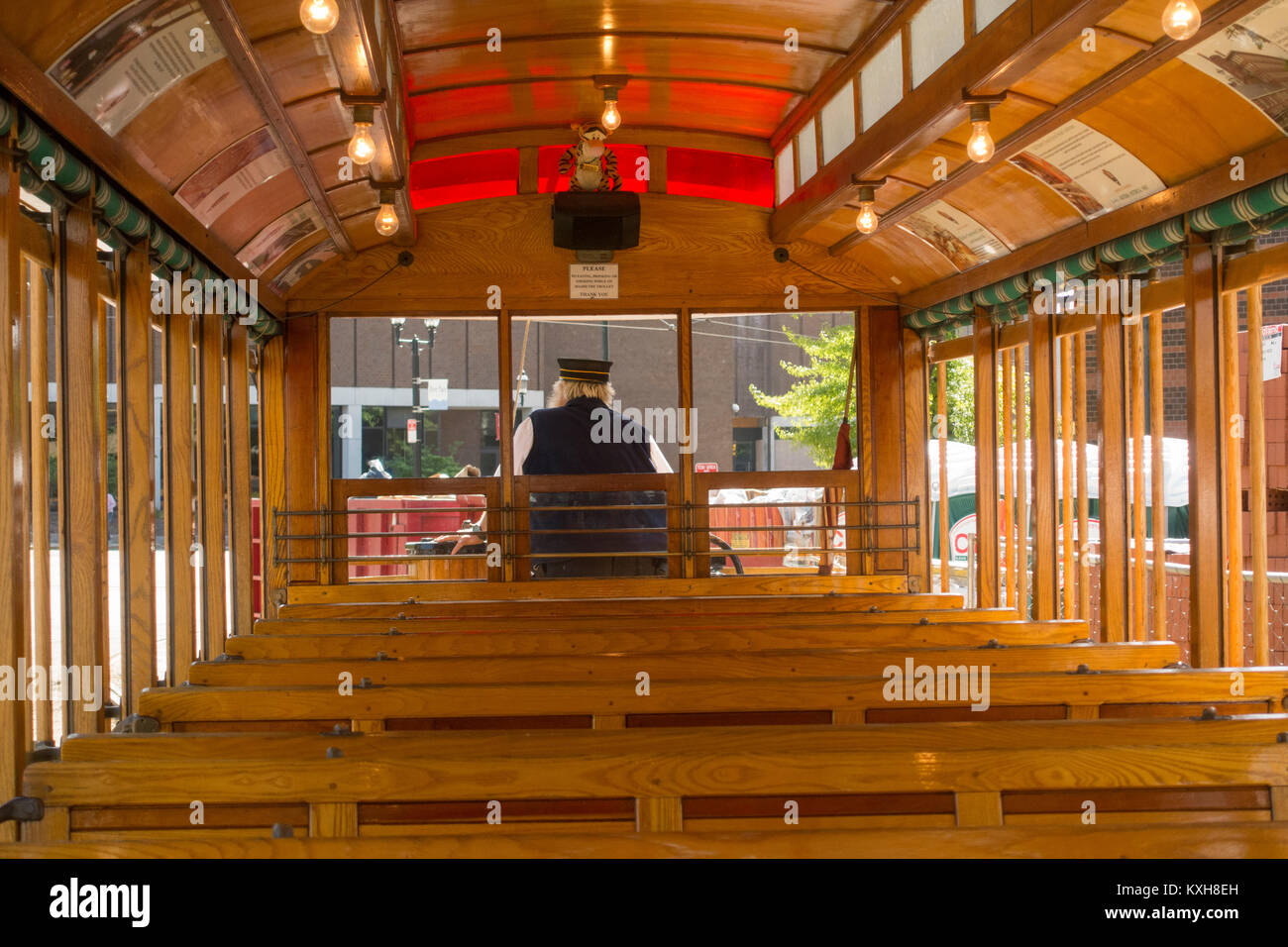 streetcars in Lowell MA - Stock Image