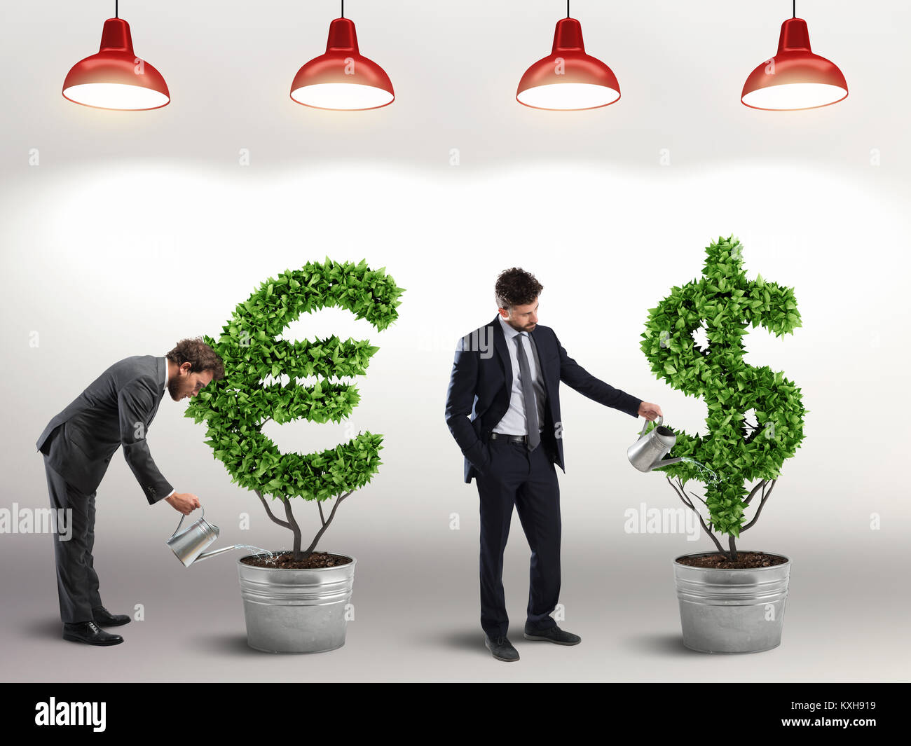Make investments grow. 3D Rendering - Stock Image