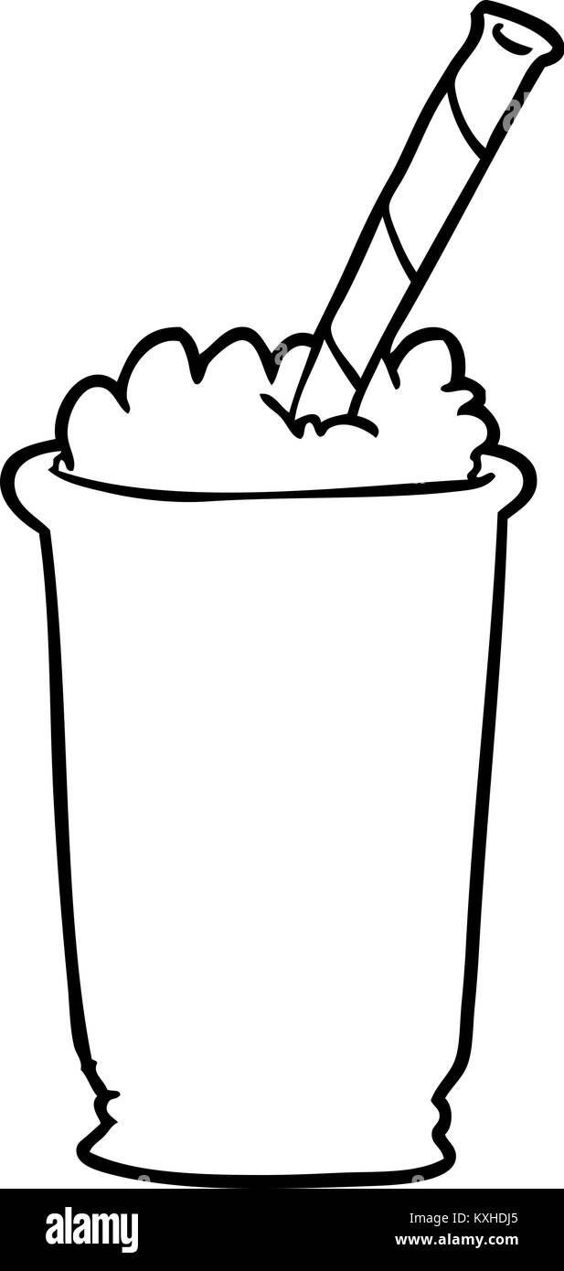 Line Drawing Of A Milkshake Stock Vector Image Art Alamy,Cooking Chestnuts On Open Fire