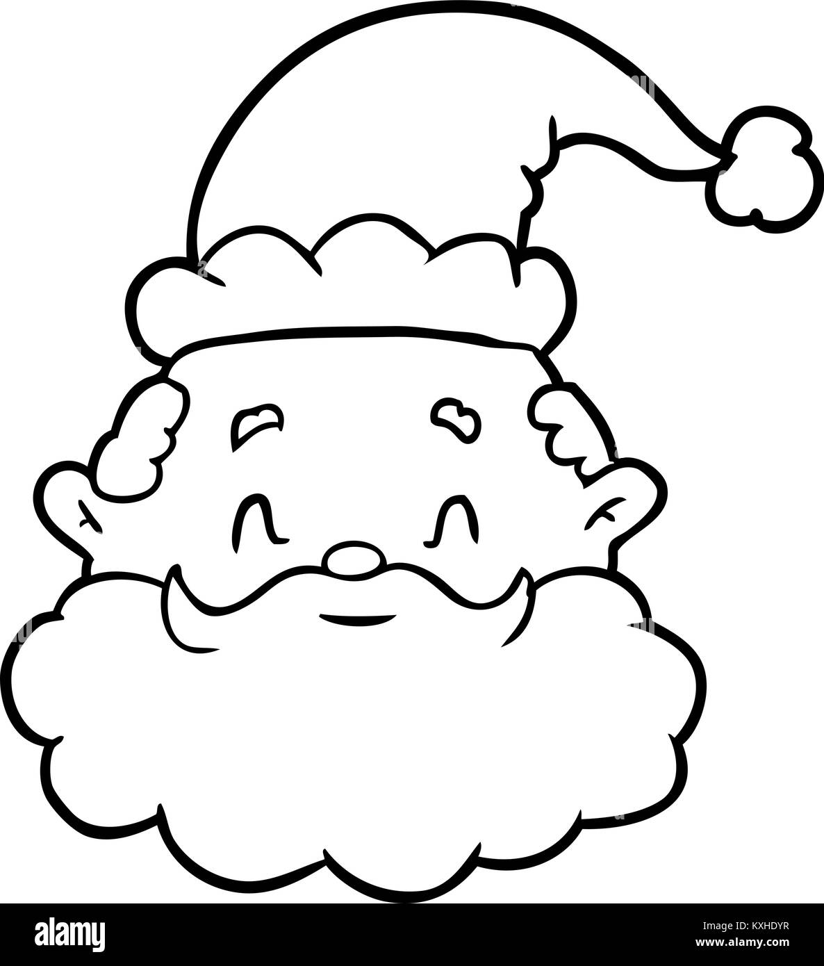 line drawing of a santa claus face stock vector image art alamy https www alamy com stock photo line drawing of a santa claus face 171258523 html