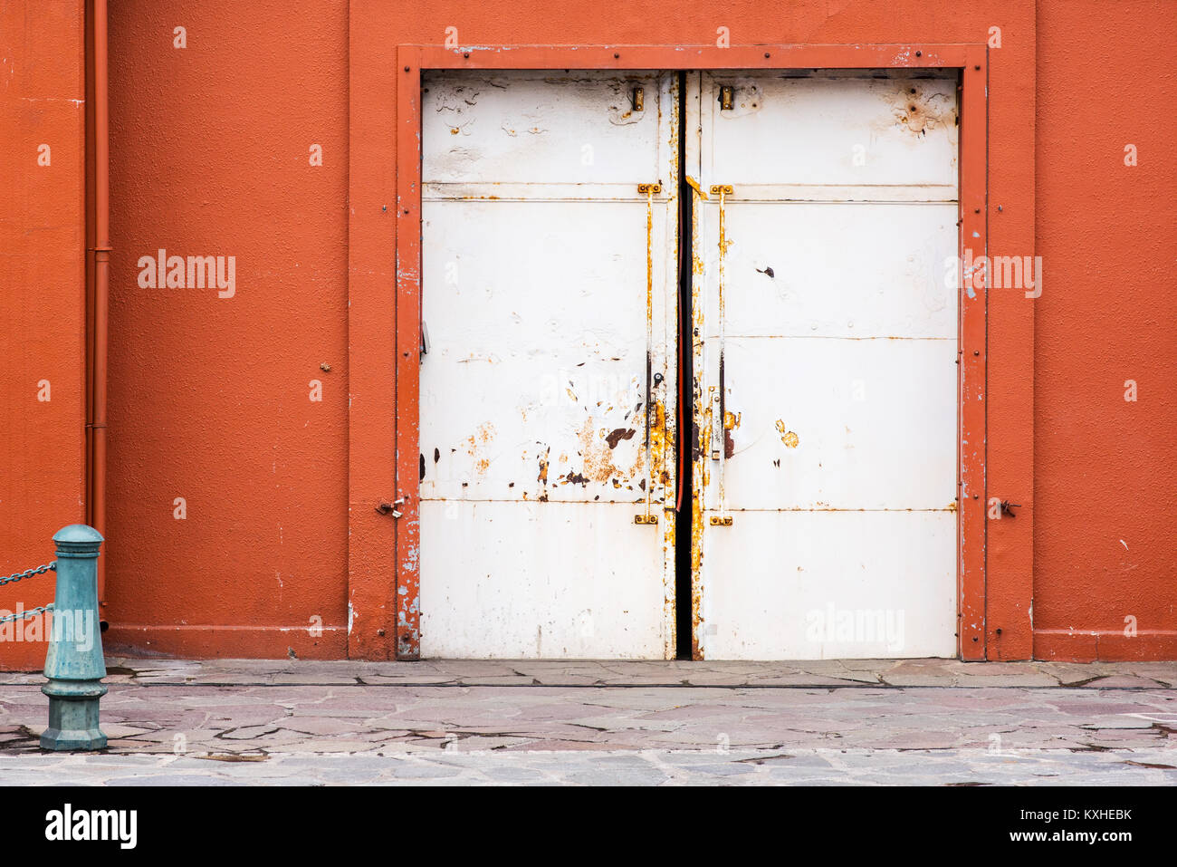 Metal Sliding Door Old Factory Stock Photos Metal Sliding Door Old