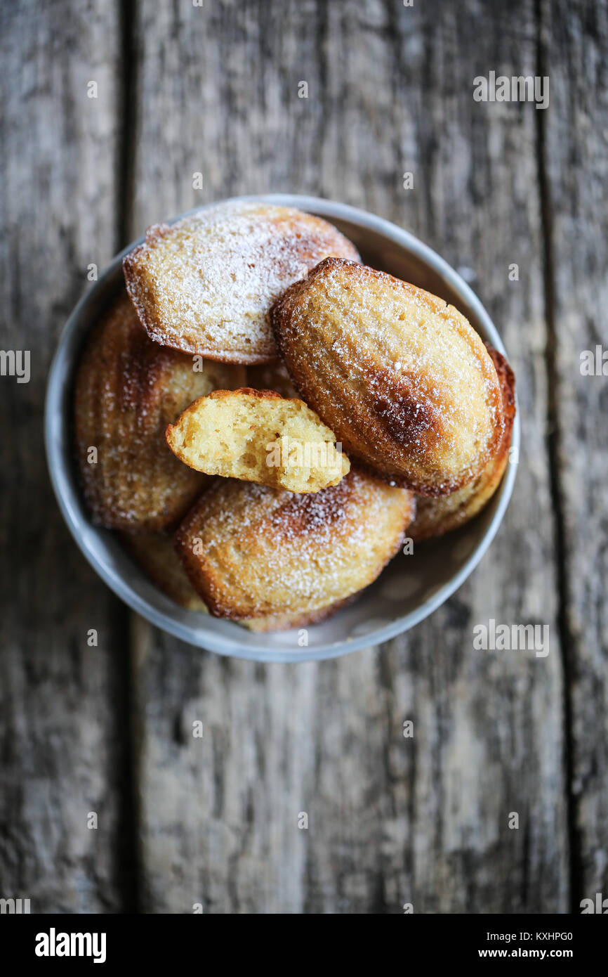 Skyr and vanilla madeleines - Stock Image