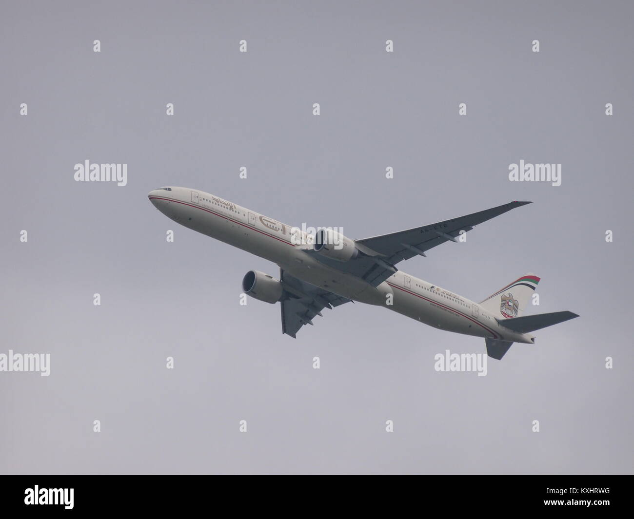 Etihad Airways Flying out of YYZ Toronto Pearson - Stock Image