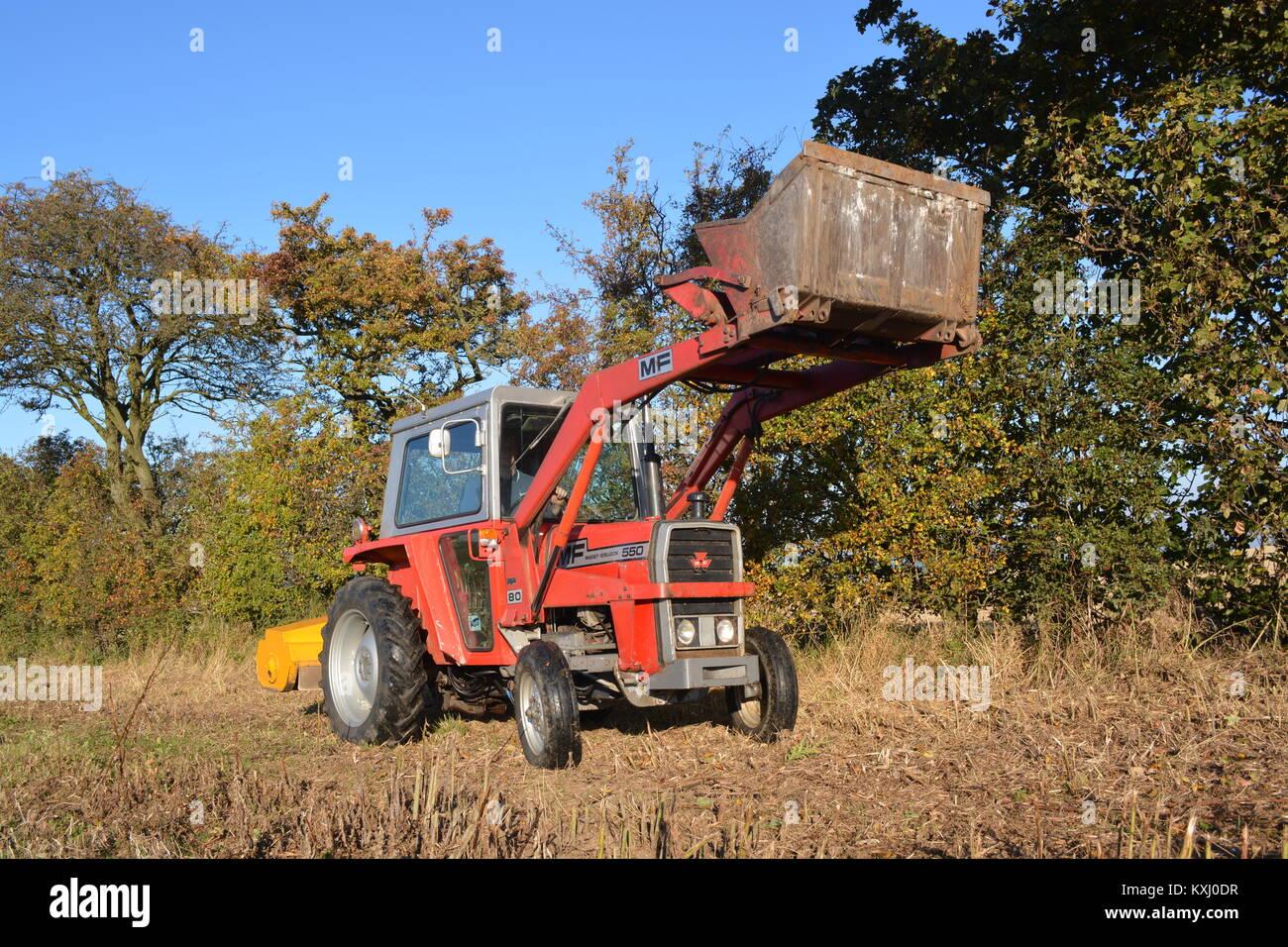 Massey Ferguson MF550 Tractor - Stock Image