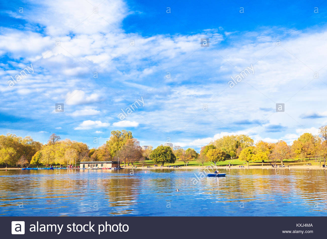 The Serpentine, Hyde Park, London, England, UK - Stock Image