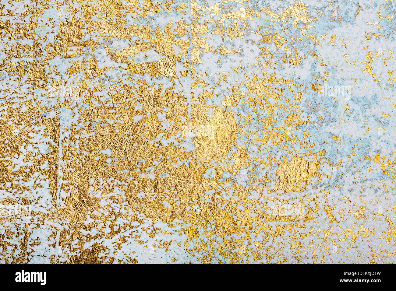White and golden messy wall stucco texture background. Decorative ...