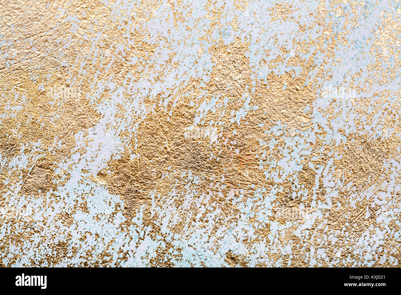 White and golden messy wall stucco texture background Decorative