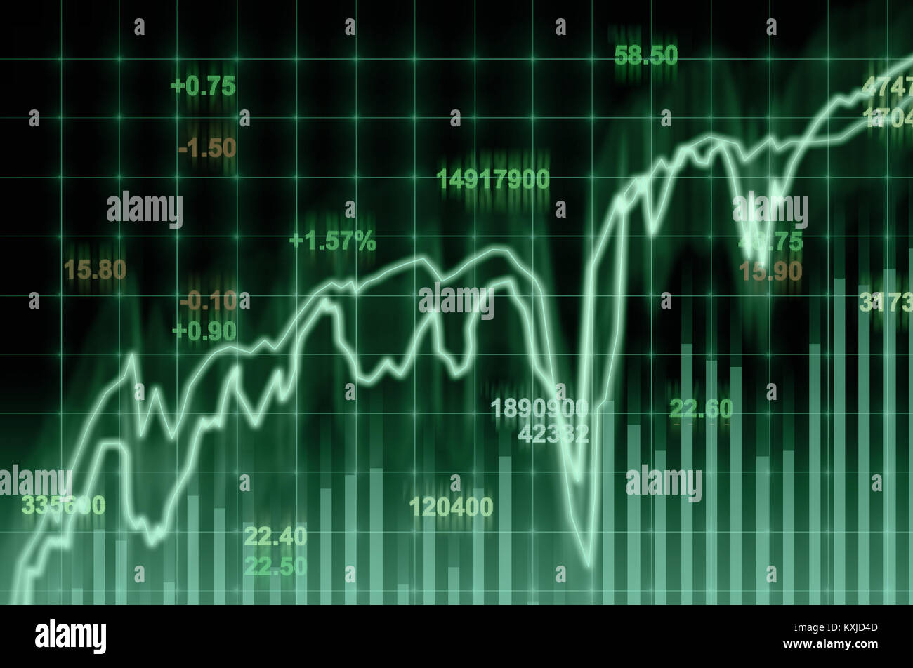 Stock market chart,Closeup Stock market exchange data on LED