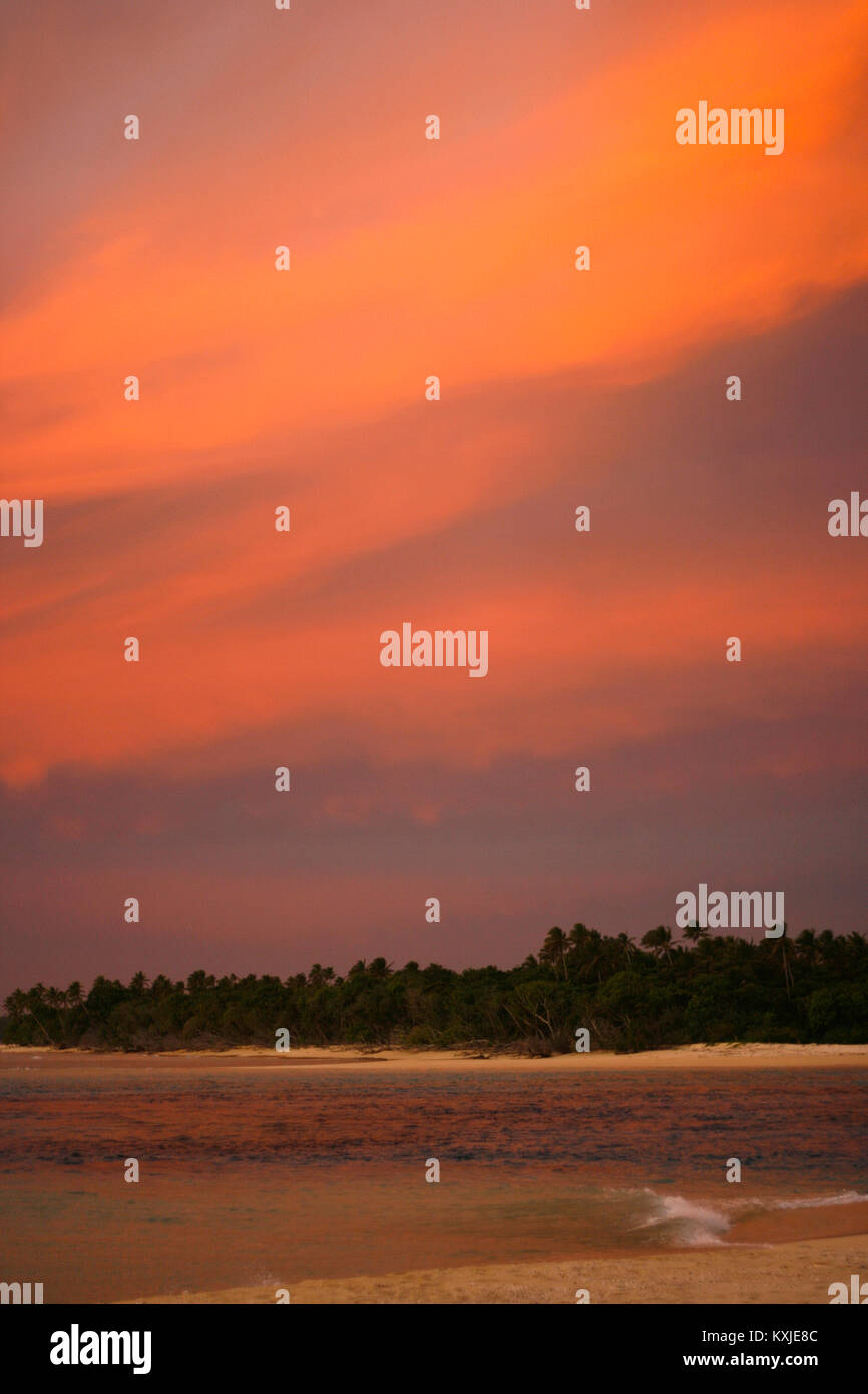 Nukunamo island. Ha'apai islands. Tonga. Polynesia - Stock Image