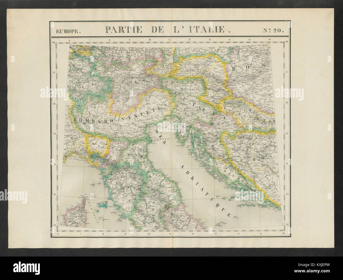 Map maps europe italy croatia stock photos map maps europe italy partie de litalie 20 n italy switzerland croatia vandermaelen 1827 gumiabroncs Images