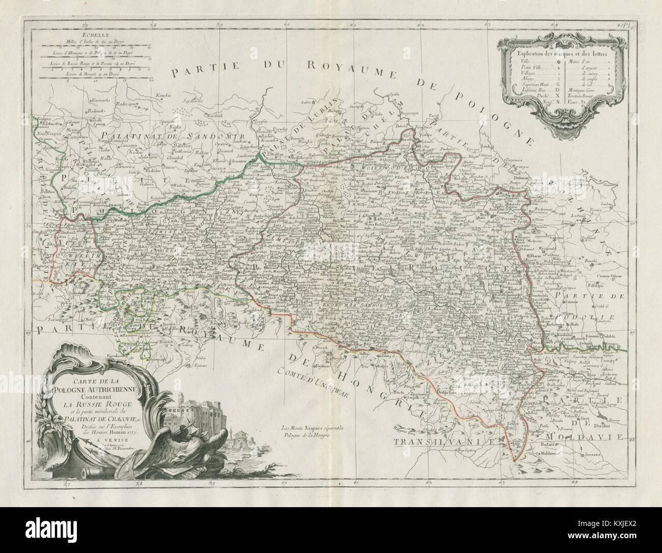 Carte de la Pologne Autrichiene…