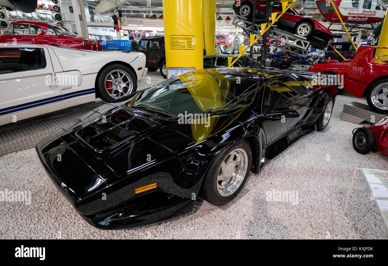 the rare american supercar wector w8 at the technik museum sinsheim