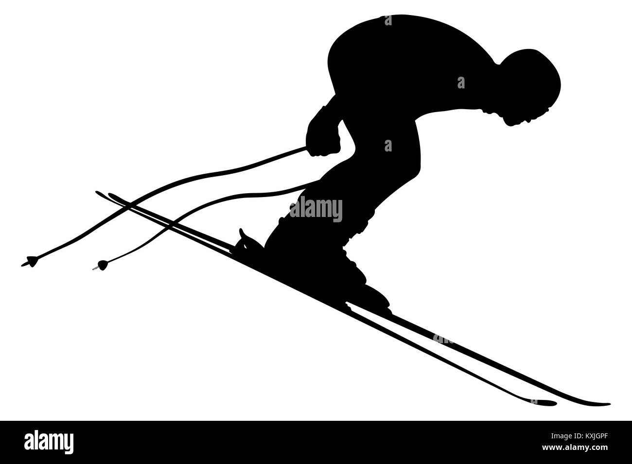 start skier athlete in competition alpine skiing - Stock Image