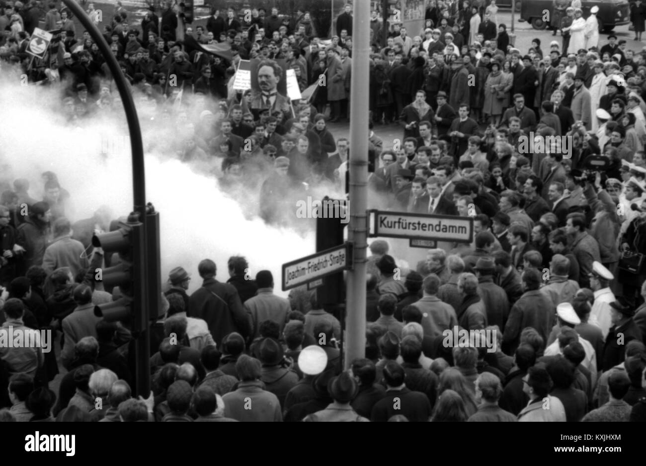 The prelude and initial spark of the 68 movement was the student Vietnam Congress and the associated demonstration - Stock Image