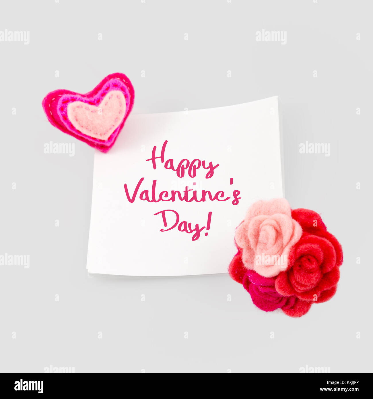 Happy valentines day greeting card heart and love message on stick happy valentines day greeting card heart and love message on stick note paper m4hsunfo