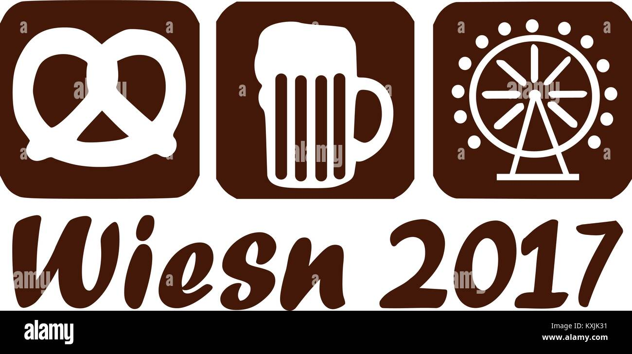 Wiesn 2017 icon - Stock Image