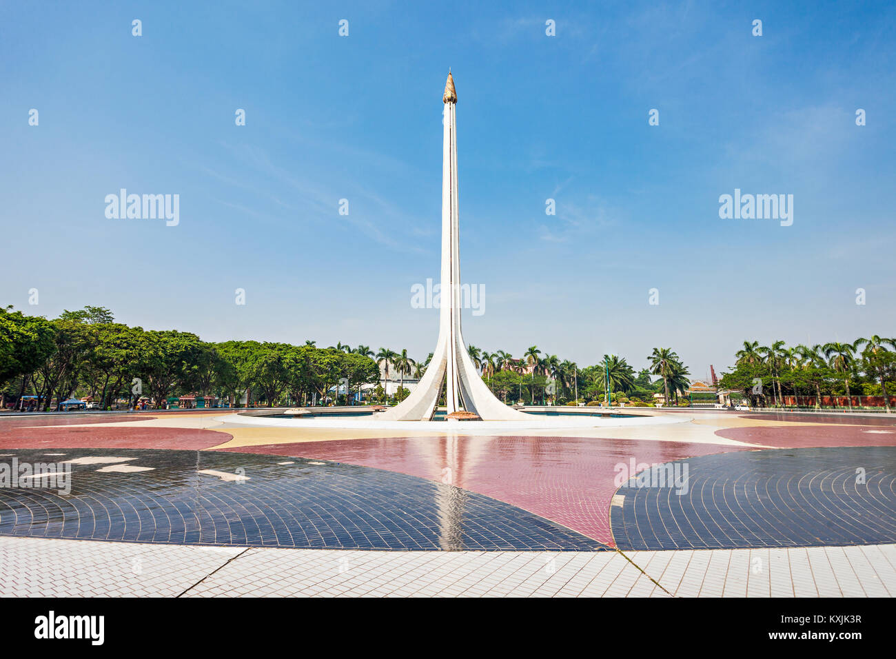 JAKARTA, INDONESIA - OCTOBER 20, 2014: Monument in Taman Mini Indonesia Indah is a culture based recreational area - Stock Image