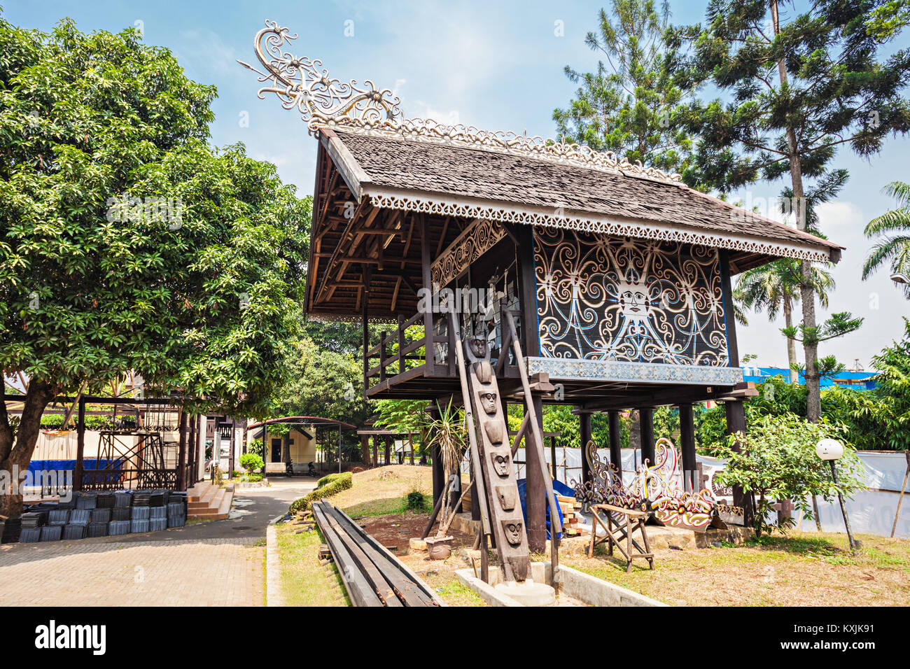 JAKARTA, INDONESIA - OCTOBER 20, 2014: Taman Mini Indonesia Indah is a culture based recreational area located in - Stock Image