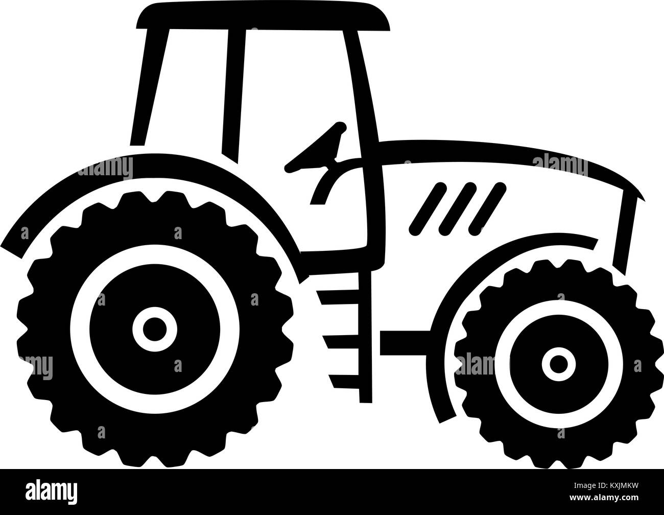 tractor stock vector images page 3 alamy Traktor DJ white farmer tractor drawn stock vector