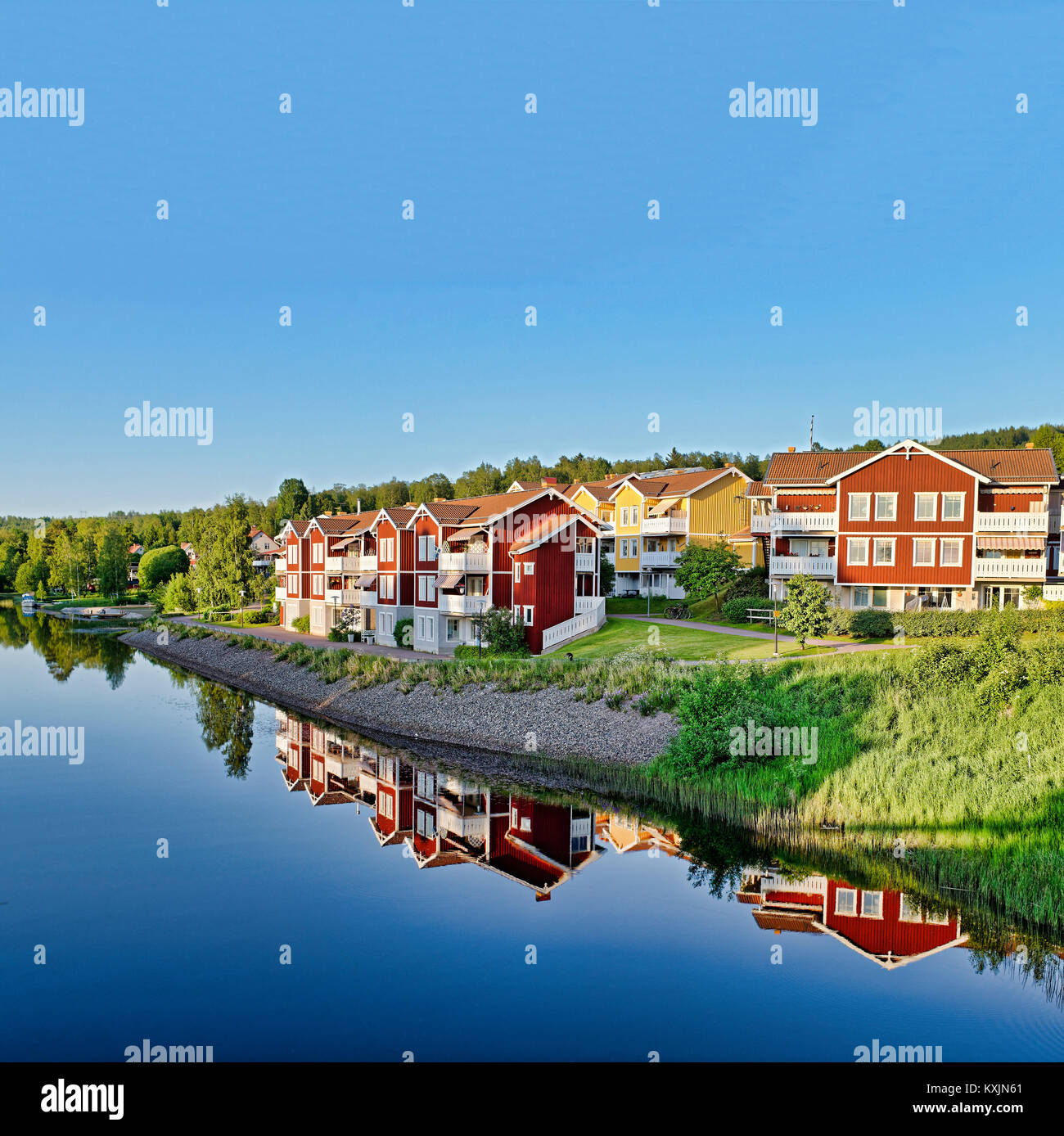Peaceful residential area in Dalarna,Sweden Stock Photo